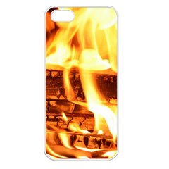 Fire Flame Wood Fire Brand Apple Iphone 5 Seamless Case (white)