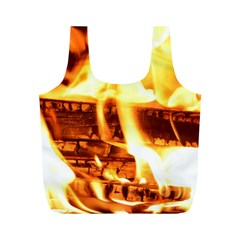 Fire Flame Wood Fire Brand Full Print Recycle Bags (m)