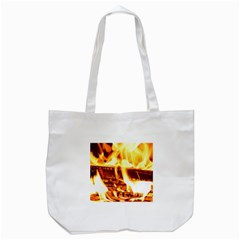 Fire Flame Wood Fire Brand Tote Bag (white) by Nexatart