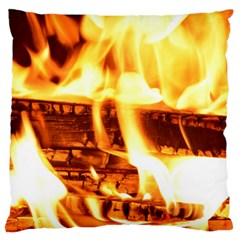 Fire Flame Wood Fire Brand Standard Flano Cushion Case (One Side) by Nexatart