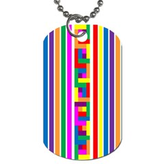 Rainbow Geometric Design Spectrum Dog Tag (two Sides)