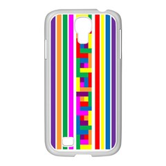 Rainbow Geometric Design Spectrum Samsung Galaxy S4 I9500/ I9505 Case (white)