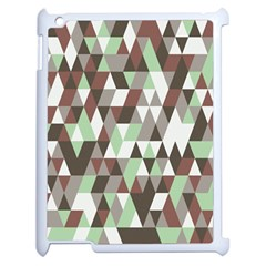 Pattern Triangles Random Seamless Apple Ipad 2 Case (white)