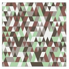 Pattern Triangles Random Seamless Large Satin Scarf (square)