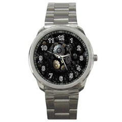 Fractal Sphere Steel 3d Structures Sport Metal Watch
