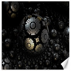 Fractal Sphere Steel 3d Structures Canvas 12  X 12