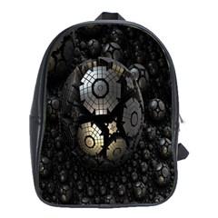 Fractal Sphere Steel 3d Structures School Bags (xl)