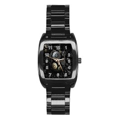Fractal Sphere Steel 3d Structures Stainless Steel Barrel Watch