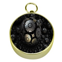 Fractal Sphere Steel 3d Structures Gold Compasses by Nexatart