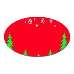 Merry Christmas Oval Magnet by Nexatart