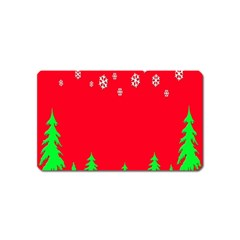 Merry Christmas Magnet (name Card)