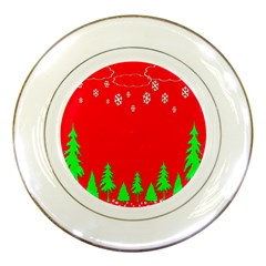 Merry Christmas Porcelain Plates