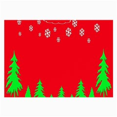 Merry Christmas Large Glasses Cloth by Nexatart