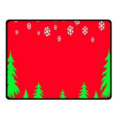Merry Christmas Fleece Blanket (small) by Nexatart