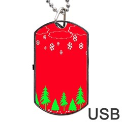 Merry Christmas Dog Tag Usb Flash (two Sides)