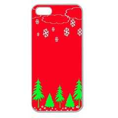 Merry Christmas Apple Seamless Iphone 5 Case (clear)