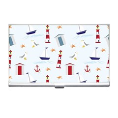 Seaside Beach Summer Wallpaper Business Card Holders