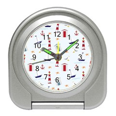 Seaside Beach Summer Wallpaper Travel Alarm Clocks by Nexatart