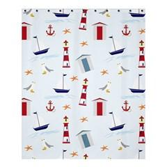 Seaside Beach Summer Wallpaper Shower Curtain 60  X 72  (medium)