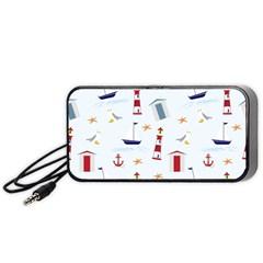 Seaside Beach Summer Wallpaper Portable Speaker (black)