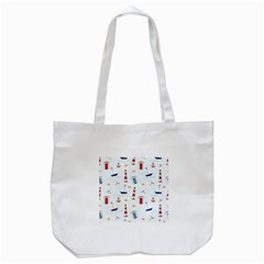 Seaside Beach Summer Wallpaper Tote Bag (white)