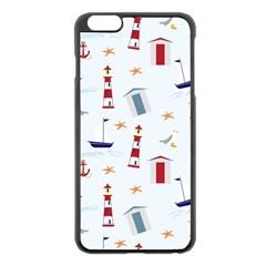 Seaside Beach Summer Wallpaper Apple Iphone 6 Plus/6s Plus Black Enamel Case by Nexatart