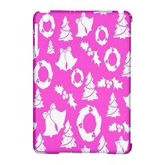 Pink Christmas Background Apple Ipad Mini Hardshell Case (compatible With Smart Cover) by Nexatart