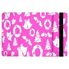 Pink Christmas Background Ipad Air 2 Flip by Nexatart