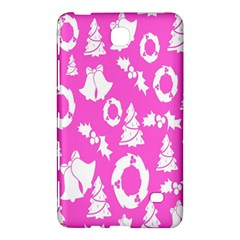 Pink Christmas Background Samsung Galaxy Tab 4 (8 ) Hardshell Case  by Nexatart