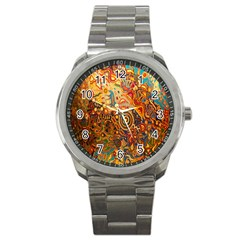 Ethnic Pattern Sport Metal Watch by Nexatart