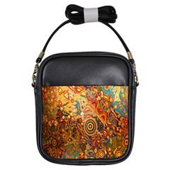 Ethnic Pattern Girls Sling Bags