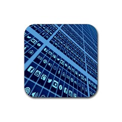 Mobile Phone Smartphone App Rubber Coaster (square)  by Nexatart