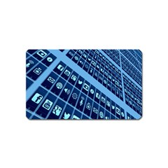 Mobile Phone Smartphone App Magnet (name Card) by Nexatart