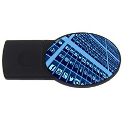 Mobile Phone Smartphone App Usb Flash Drive Oval (4 Gb)