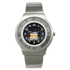 Interior Car Vehicle Auto Stainless Steel Watch