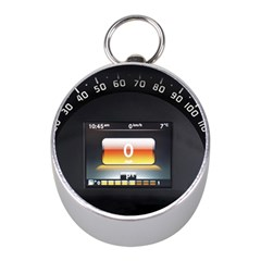 Interior Car Vehicle Auto Mini Silver Compasses