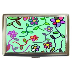 Flowers Floral Doodle Plants Cigarette Money Cases