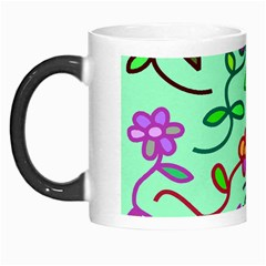 Flowers Floral Doodle Plants Morph Mugs by Nexatart