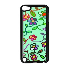 Flowers Floral Doodle Plants Apple Ipod Touch 5 Case (black)