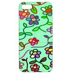 Flowers Floral Doodle Plants Apple Iphone 5 Hardshell Case With Stand