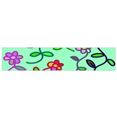 Flowers Floral Doodle Plants Flano Scarf (small) by Nexatart