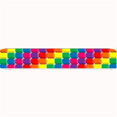 Rainbow 3d Cubes Red Orange Small Bar Mats by Nexatart