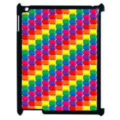 Rainbow 3d Cubes Red Orange Apple Ipad 2 Case (black)