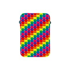 Rainbow 3d Cubes Red Orange Apple Ipad Mini Protective Soft Cases by Nexatart