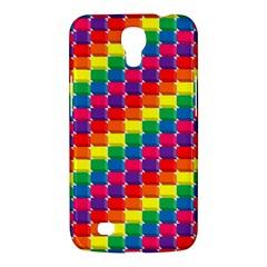 Rainbow 3d Cubes Red Orange Samsung Galaxy Mega 6 3  I9200 Hardshell Case by Nexatart