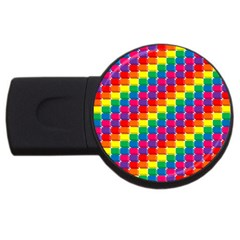 Rainbow 3d Cubes Red Orange Usb Flash Drive Round (4 Gb)