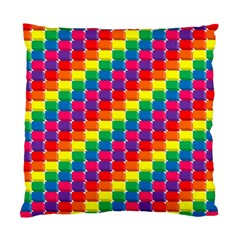 Rainbow 3d Cubes Red Orange Standard Cushion Case (two Sides)