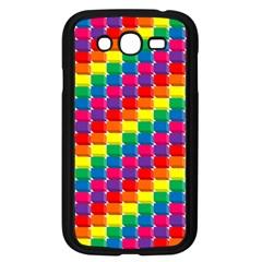 Rainbow 3d Cubes Red Orange Samsung Galaxy Grand Duos I9082 Case (black) by Nexatart