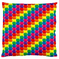 Rainbow 3d Cubes Red Orange Standard Flano Cushion Case (one Side) by Nexatart