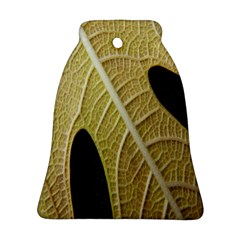 Yellow Leaf Fig Tree Texture Ornament (bell) by Nexatart